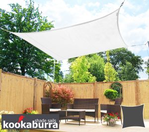 Kookaburra® 2,0m Vierkant Polar Wit Gebreid Party Schaduwdoek (Gebreid 185g)