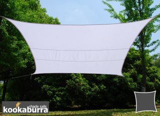 Kookaburra® 5,0mx4,0m Rechthoek Polar Wit Party Schaduwdoek (Geweven - Waterafstotend)