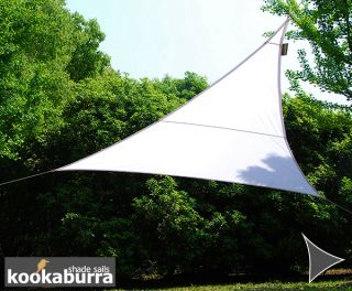 Kookaburra® 3,6m Driehoek Polar Wit Party Schaduwdoek (Geweven - Waterafstotend)