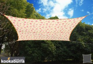 Kookaburra® 5,4m Vierkant Roos Patroon Party Schaduwdoek (Geweven - Waterafstotend)