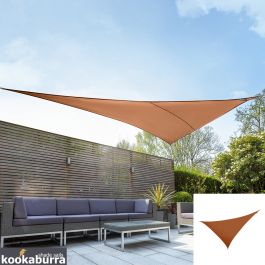 Kookaburra® 4,2mx4,2mx6,0m Rechthoekige driehoek Terracotta Party Schaduwdoek (Geweven - Waterafstotend)
