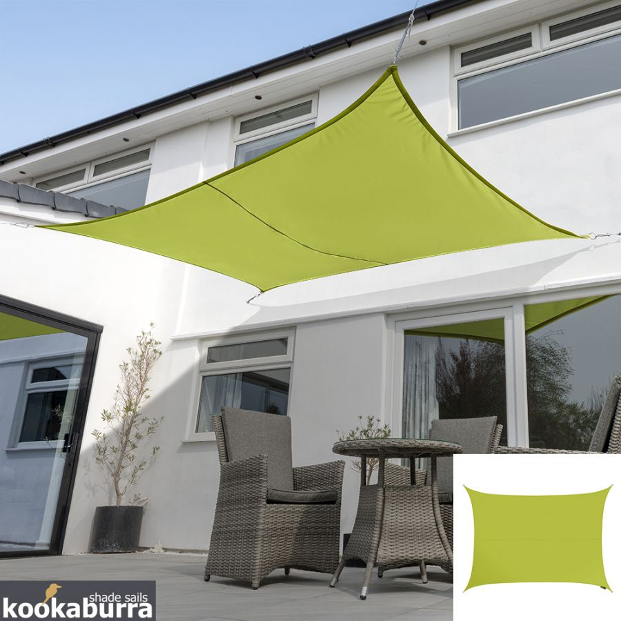 Kookaburra® 6,0mx5,0m Rechthoek Limoen Party Schaduwdoek (Geweven - Waterafstotend)