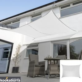 Kookaburra® 3,0mx2,0m Rechthoek Polar Wit Party Schaduwdoek (Geweven - Waterafstotend)