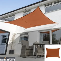 Kookaburra® 4,0mx3,0m Rechthoek Terracotta Party Schaduwdoek (Geweven - Waterafstotend)