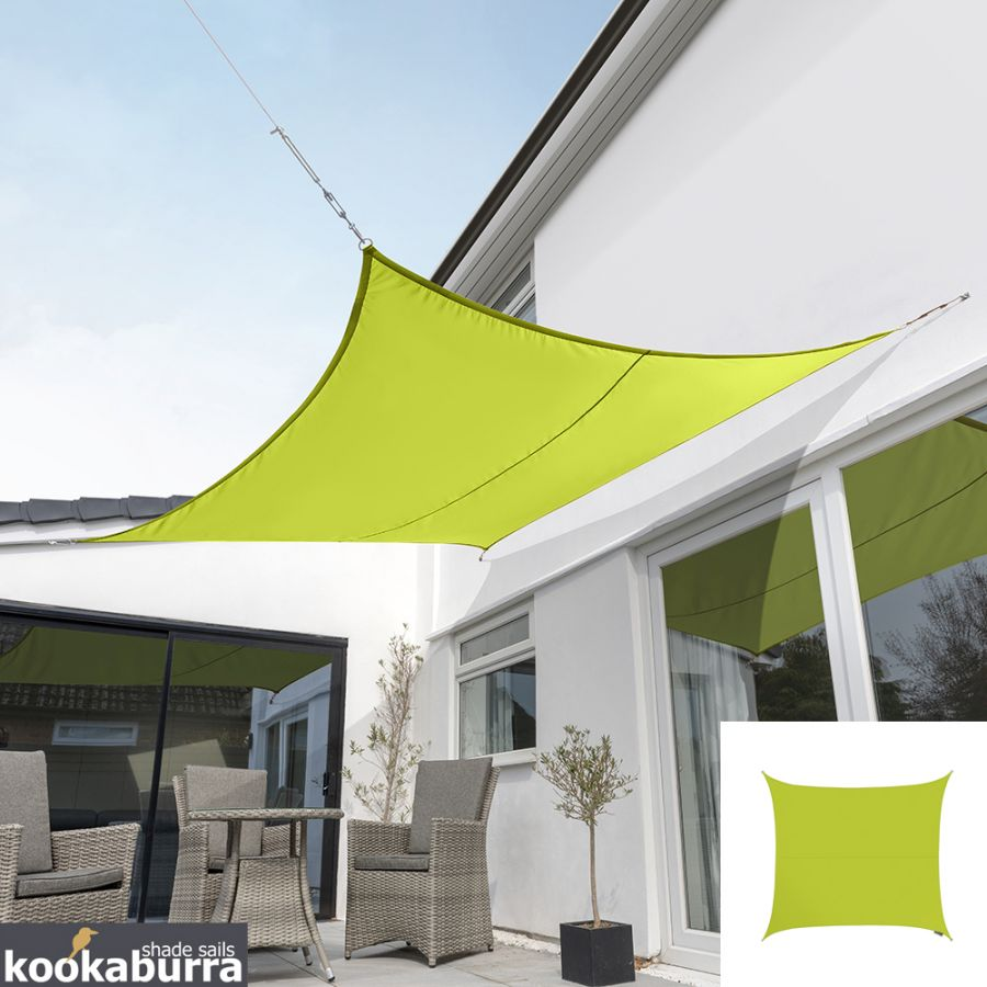 Kookaburra® 5,4m Vierkant Limoen Party Schaduwdoek (Geweven - Waterafstotend)