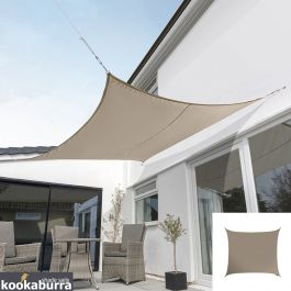 Kookaburra® 5,4m Vierkant Beige Party Schaduwdoek (Geweven - Waterafstotend)