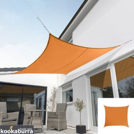 Kookaburra® 5,4m Vierkant Oranje Party Schaduwdoek (Geweven - Waterafstotend)