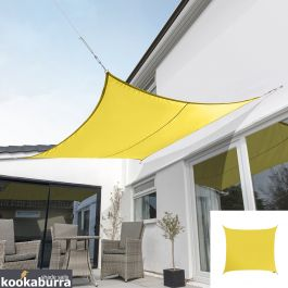 Kookaburra® 3,0m Vierkant Geel Party Schaduwdoek (Geweven - Waterafstotend)