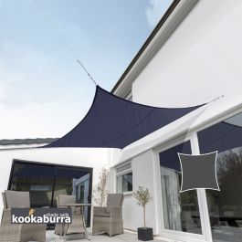 Kookaburra® 3,6m Vierkant Blauw Party Schaduwdoek (Geweven - Waterafstotend)
