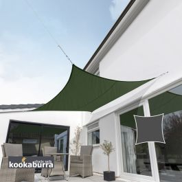 Kookaburra® 3,6m Vierkant Groen Party Schaduwdoek (Geweven - Waterafstotend)