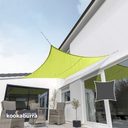 Kookaburra® 3,6m Vierkant Limoen Party Schaduwdoek (Geweven - Waterafstotend)