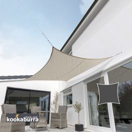 Kookaburra® 3,6m Vierkant Beige Party Schaduwdoek (Geweven - Waterafstotend)