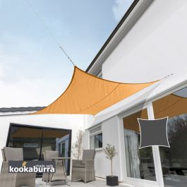 Kookaburra® 3,6m Vierkant Oranje Party Schaduwdoek (Geweven - Waterafstotend)