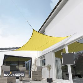 Kookaburra® 3,6m Vierkant Geel Party Schaduwdoek (Geweven - Waterafstotend)