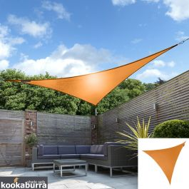 Kookaburra® 3,0m Driehoek Oranje Party Schaduwdoek (Geweven - Waterafstotend)