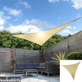 Kookaburra® 5,0m Driehoek Zand Party Schaduwdoek (Geweven - Waterafstotend)