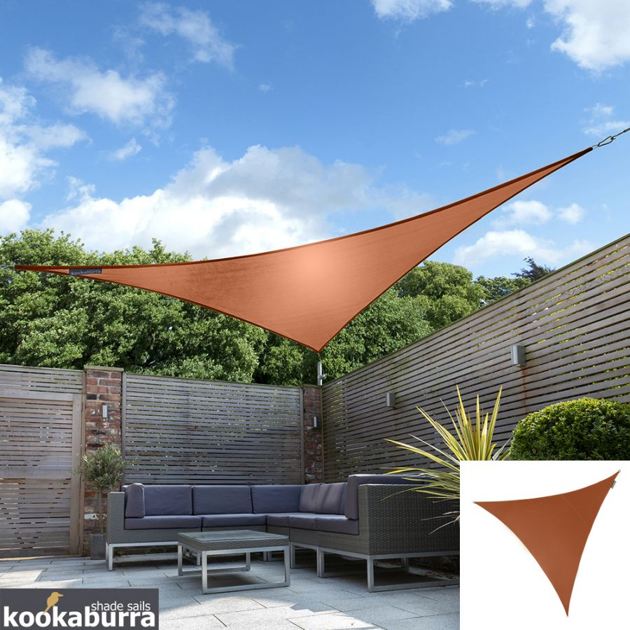 Kookaburra® 2,0m Driehoek Terracotta Party Schaduwdoek (Geweven - Waterafstotend)