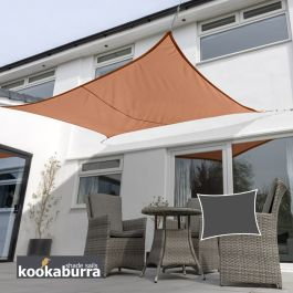 Kookaburra® 5,0mx4,0m Rechthoek Terracotta Party Schaduwdoek (Geweven - Waterafstotend)
