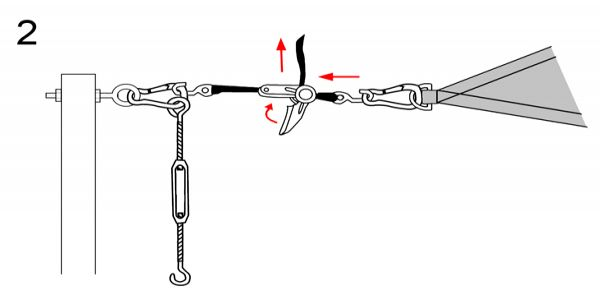 Using a Strap Tensioner - Stap 2