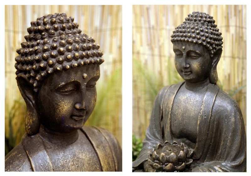 boeddha met bloem met verlichting 129 99. Black Bedroom Furniture Sets. Home Design Ideas